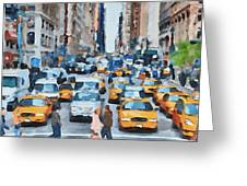 New York 1 Greeting Card by Yury Malkov