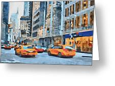 New York 2 Greeting Card by Yury Malkov