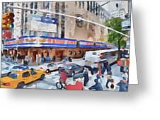 New York 4 Greeting Card by Yury Malkov