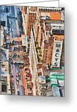New York 5 Greeting Card by Yury Malkov