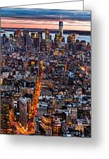 New York Aerial Cityscape Greeting Card by Mihai Andritoiu