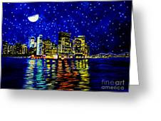 New York City Lower Manhattan Greeting Card by Christopher Shellhammer