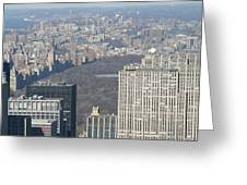New York City - View From Empire State Building - 121211 Greeting Card by DC Photographer