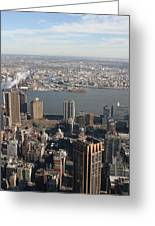 New York City - View From Empire State Building - 121219 Greeting Card by DC Photographer