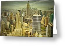 New York Colour Study No.1 Greeting Card by Melanie Viola