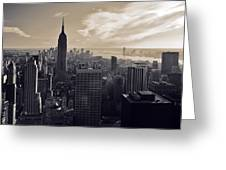 New York Greeting Card by Dave Bowman