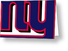 New York Giants Football 2 Greeting Card by Tony Rubino