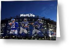New York Giants Metlife Stadium Greeting Card by Joe Hamilton
