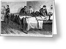 New York: Heatstroke, 1876 Greeting Card by Granger