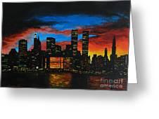 New York In The Glory Days Greeting Card by Alexandru Rusu