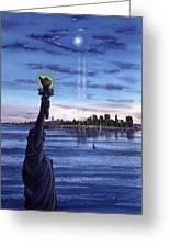 New York  Greeting Card by John YATO