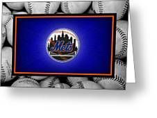 New York Mets Greeting Card by Joe Hamilton