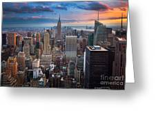 New York New York Greeting Card by Inge Johnsson