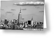 New York New York Greeting Card by John Rizzuto