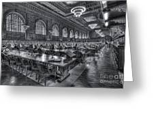 New York Public Library Main Reading Room V Greeting Card by Clarence Holmes