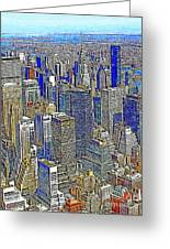 New York Skyline 20130430v2 Greeting Card by Wingsdomain Art and Photography
