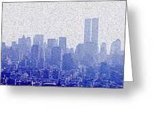 New York Skyline Greeting Card by Jon Neidert