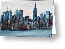 New York Skyline Greeting Card by Michael  Accorsi