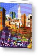 New York Stars Greeting Card by Lutz Baar