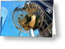 New York Steel Globe Greeting Card by Jenny Hudson