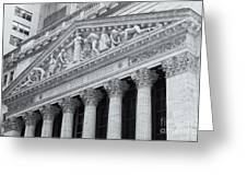 New York Stock Exchange II Greeting Card by Clarence Holmes