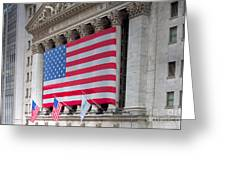 New York Stock Exchange IIi Greeting Card by Clarence Holmes