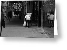 New York Street Photography 26 Greeting Card by Frank Romeo