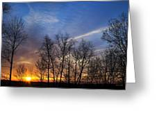 New York Sunset Greeting Card by Christina Rollo