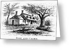 New York: Tavern, C1776 Greeting Card by Granger