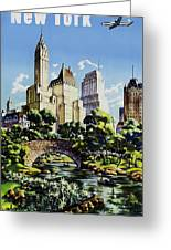 New York United Air Lines Greeting Card by Mark Rogan