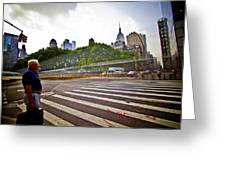 New York - Waiting... Greeting Card by Amador Esquiu Marques