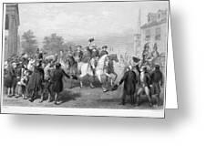 New York: Washington, 1783 Greeting Card by Granger
