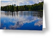 New York's Lake Abanakee Greeting Card by David Patterson
