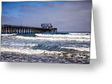 Newport Beach Pier In Orange County California Greeting Card by Paul Velgos