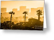 Newport Beach Skyline Morning Sunrise Picture Greeting Card by Paul Velgos