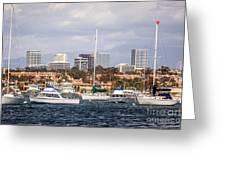 Newport Beach Skyline  Greeting Card by Paul Velgos