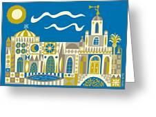 Newport Beach Temple Greeting Card by Parker  Jacobs
