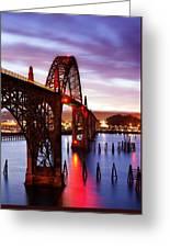 Newport Dawn Greeting Card by Darren  White