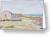 Newport Fishing Shacks Greeting Card by Michael McGrath