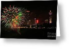 Niagara Falls Fireworks Greeting Card by Charline Xia
