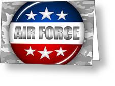 Nice Air Force Shield 2 Greeting Card by Pamela Johnson