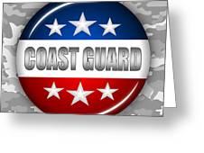 Nice Coast Guard Shield 2 Greeting Card by Pamela Johnson