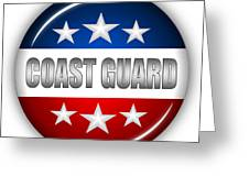 Nice Coast Guard Shield Greeting Card by Pamela Johnson