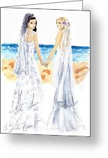 Nice Day For A White Wedding Greeting Card by Sabina Mollot
