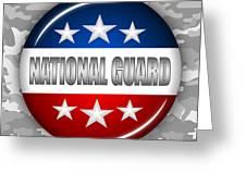 Nice National Guard Shield 2 Greeting Card by Pamela Johnson