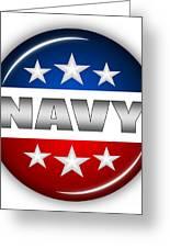 Nice Navy Shield Greeting Card by Pamela Johnson