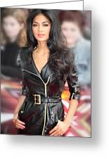 Nicole Scherzinger 23 Greeting Card by Jez C Self