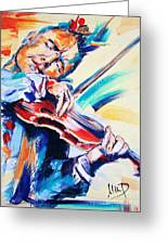 Nigel Kennedy Greeting Card by Melanie D