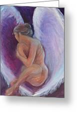 Night Angel Greeting Card by Gwen Carroll