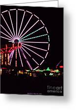 Night At The Fair Greeting Card by Megan Dirsa-DuBois